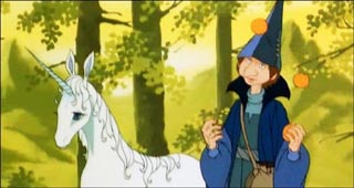 Unicorn with Schmendrick.